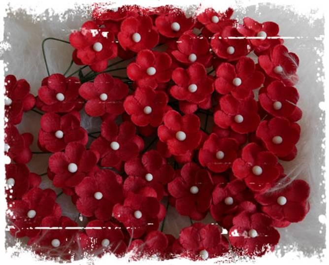 Bilde av Søte blomster, rød (6)