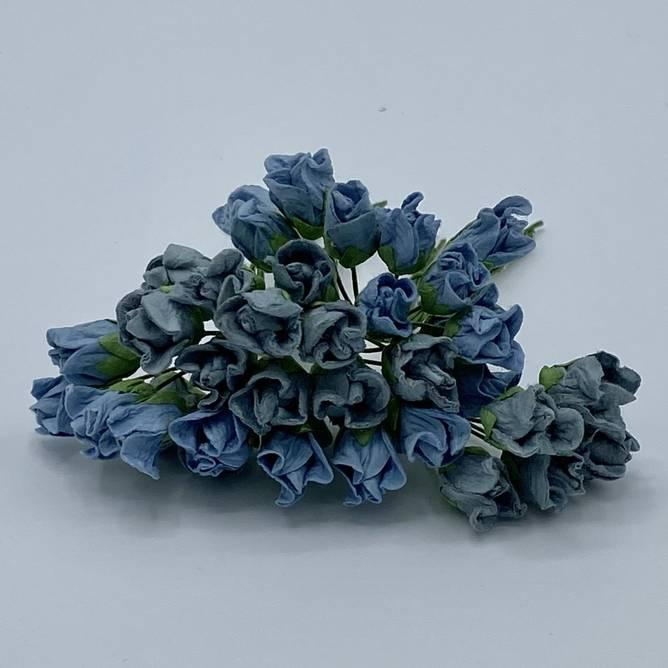 Bilde av Lukket rose, vintage blå