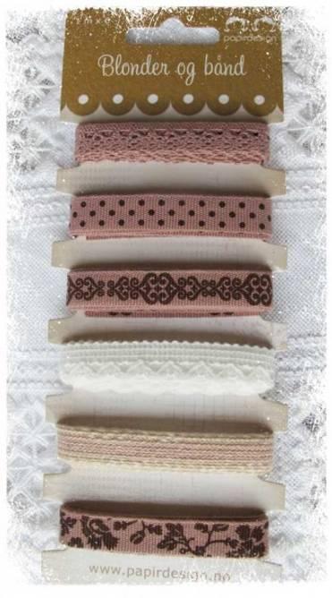 Bilde av Båndpakke vintage rosa (6)